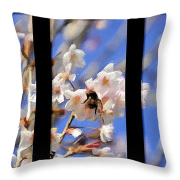 Bumble Bee Throw Pillow by Svetlana Sewell