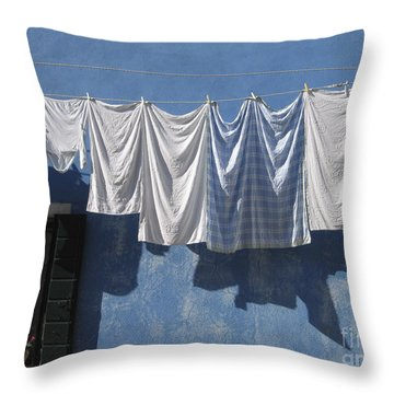 Burano Island. Venice Throw Pillow by Bernard Jaubert