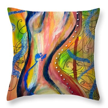 Butterfly Caught II Throw Pillow