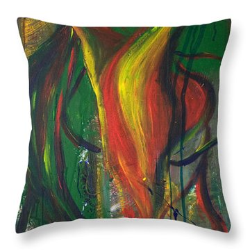 Butterfly Caught Throw Pillow by Sheridan Furrer