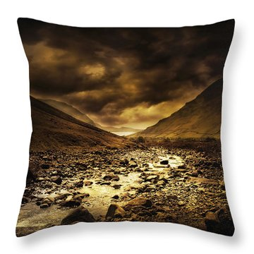 By The River Throw Pillow by Svetlana Sewell