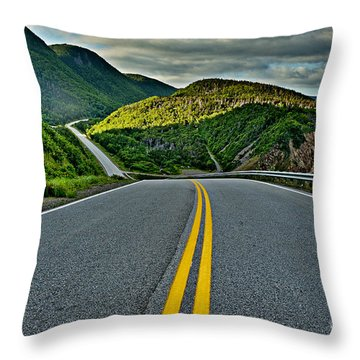 Cabot Trail Throw Pillow