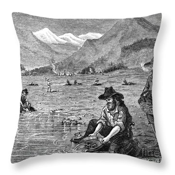 California Gold Rush Throw Pillow by Granger