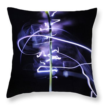 Calla Lily Throw Pillow by Sumit Mehndiratta
