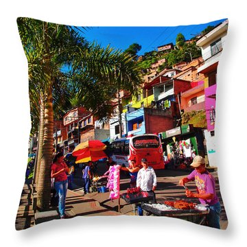 Candy Man Throw Pillow by Skip Hunt
