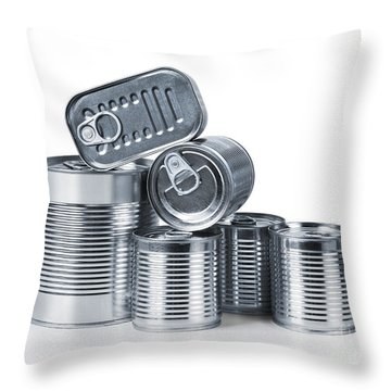 Canned Food Throw Pillow by Carlos Caetano