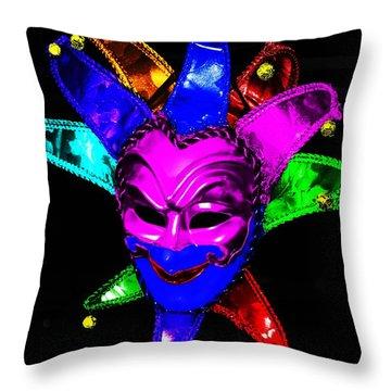 Throw Pillow featuring the digital art Carnival Mask by Blair Stuart