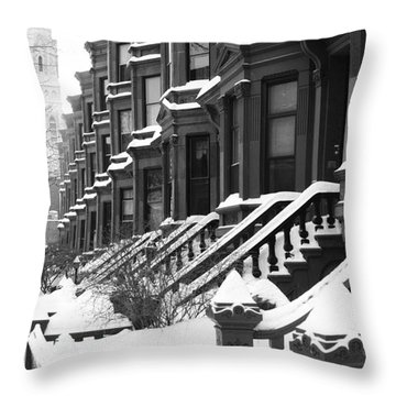Carroll Street Throw Pillow by Mark Gilman