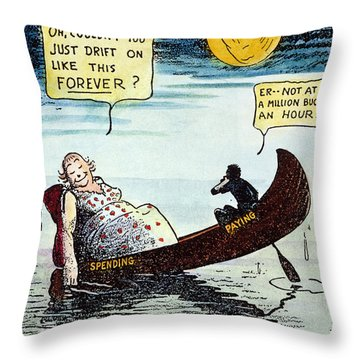 Cartoon: New Deal, 1935 Throw Pillow by Granger