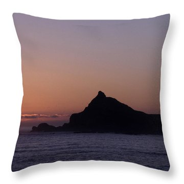 Throw Pillow featuring the photograph Castle Rock Sunset by Betty Depee