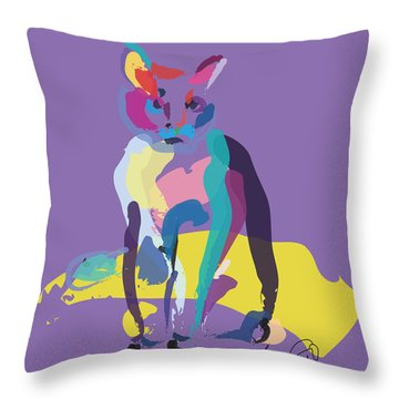 Cat In Colour Throw Pillow