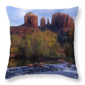 Cathedral Rock Throw Pillow by Darleen Stry