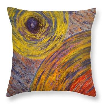 Centrifugal Whirls Throw Pillow