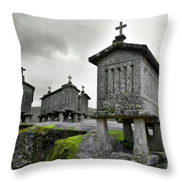 Cereal Keepers Throw Pillow by Carlos Caetano