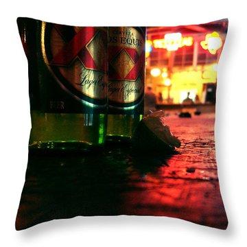 Cervezas Throw Pillow