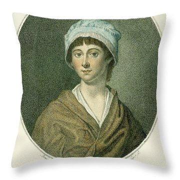 Charlotte Corday Throw Pillow by Granger