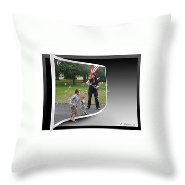 Throw Pillow featuring the photograph Chasing Bubbles by Brian Wallace