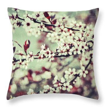 Cherry Throw Pillow by Traci Cottingham