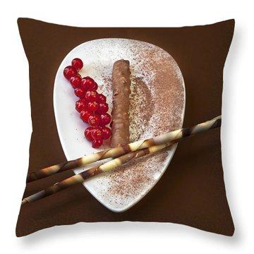 Chocolate Praline Throw Pillow by Joana Kruse