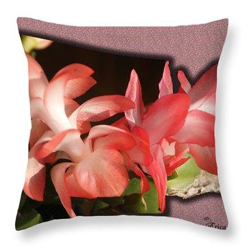 Christmas Cactus Throw Pillow by EricaMaxine  Price