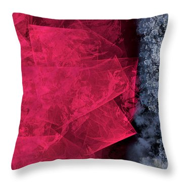 Christmas Frost Throw Pillow by Christopher Gaston