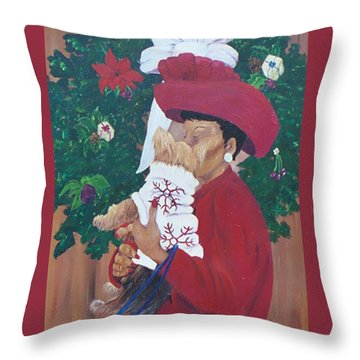 Christmas Lioness Throw Pillow