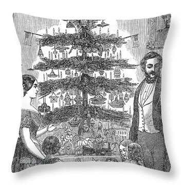 Christmas Tree, 1864 Throw Pillow by Granger