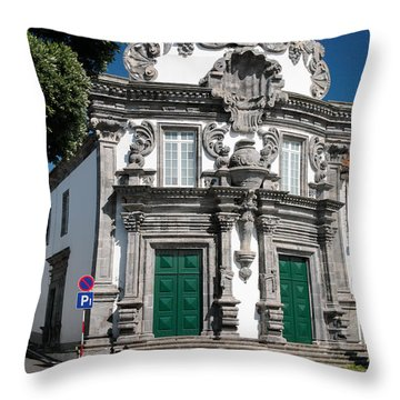 Church Throw Pillow by Gaspar Avila