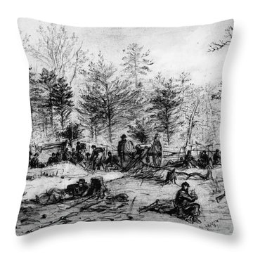 Civil War: Spotsylvania Throw Pillow by Granger
