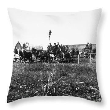 Civil War: Telegraph, 1864 Throw Pillow by Granger