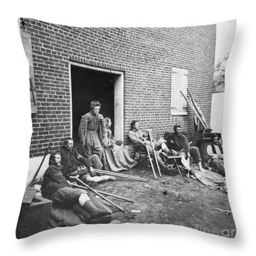 Civil War: Wounded, 1864 Throw Pillow by Granger