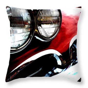 Throw Pillow featuring the digital art Classic Vette by Tony Cooper