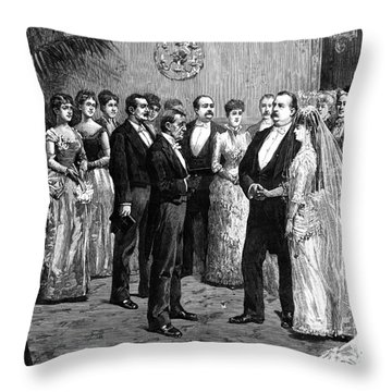Cleveland Wedding, 1886 Throw Pillow by Granger