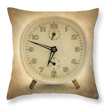 Clock Throw Pillow by Bernard Jaubert