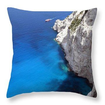 Coast Throw Pillow by Milena Boeva