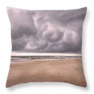 Coastal Storm Throw Pillow by Betsy Knapp