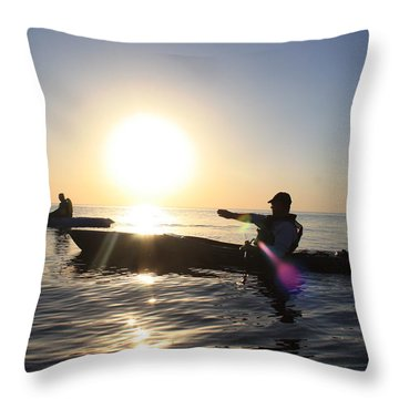 Coasting On Waters Light Throw Pillow