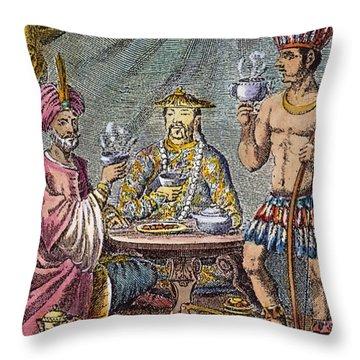 Coffee, Tea & Chocolate, 1685 Throw Pillow by Granger