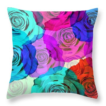 Abstract Rose Throw Pillows
