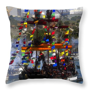 Colors Of Gasparilla Throw Pillow by David Lee Thompson