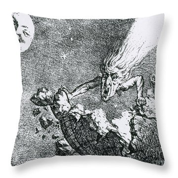 Comet Apocalypse, 1857 Throw Pillow by Science Source