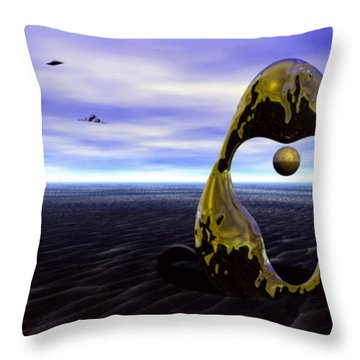 Coming Back For The Treasure Throw Pillow by Julie Grace