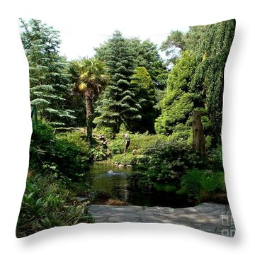 Throw Pillow featuring the photograph Compton Acre Garden by Katy Mei