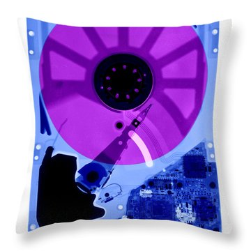 Computer Hard Drive Throw Pillow by Ted Kinsman