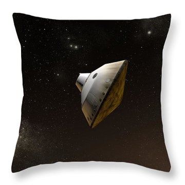 Concept Of Nasas Mars Science Throw Pillow by Stocktrek Images