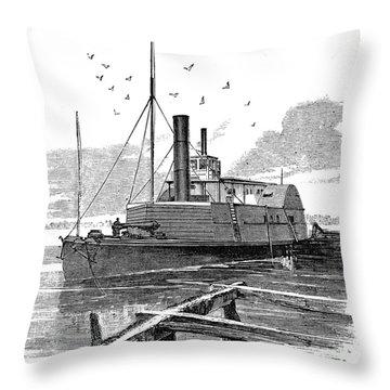 Confederate Ship, 1862 Throw Pillow by Granger