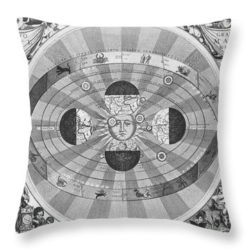 Copernican World System, 17th Century Throw Pillow by Science Source