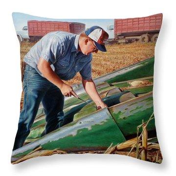 Corn Harvest Throw Pillow by Hans Droog