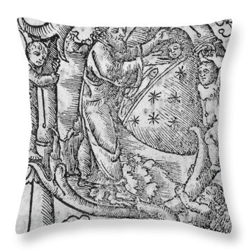 Creation, Giunta Pontificale, 1520 Throw Pillow by Science Source