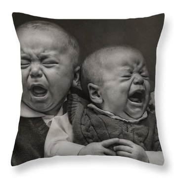 Cry Babies Throw Pillow